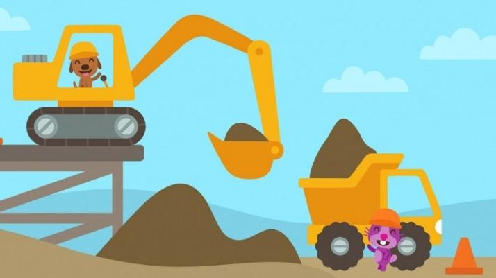 sago mini camiones y excavadoras