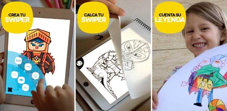 Un app para calcar y contar historias